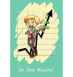 English idiom in the black vector