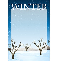 Border design with winter theme vector