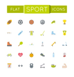 Flat sport icons vector