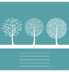 Musical tree8 vector image