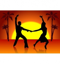 Two spain dancers vector