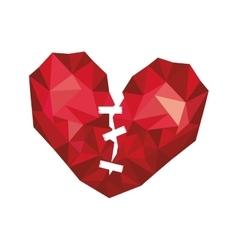 Abstract broken heart vector