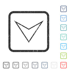 Arrowhead down icon rubber watermark vector