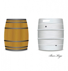 Beer keg barrel pair vector