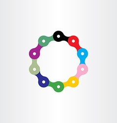Bicycle chain circle logo vector