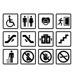 black public icons vector image
