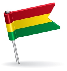 Bolivian pin icon flag vector image vector image
