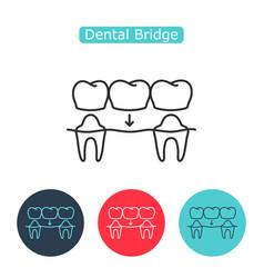 Bridges teeth icon vector