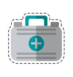 Cartoon first aid case medical emergency vector
