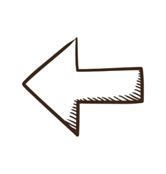 Direction arrow symbol vector image
