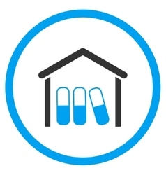 Drugs Garage Rounded Icon vector image vector image