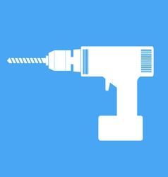 Electric hand drill icon vector image vector image
