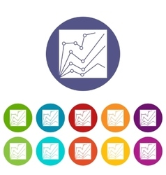 Financial statistics set icons vector image