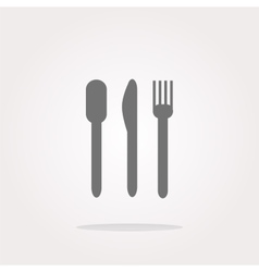 Fork and knife eat sign icon cutlery etiquette vector