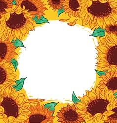 Frame pattern flower sunflower vector