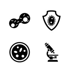Genetics lab research simple related icons vector