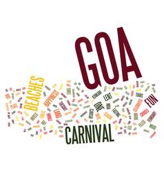 Goa beaches text background word cloud concept vector