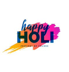 happy holi background with color splash vector image vector image