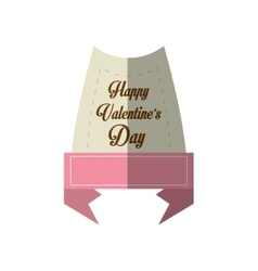 happy valentines day card message pink ribbon vector image vector image