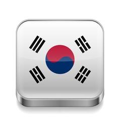 Metal icon of south korea vector