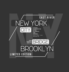 new york brooklyn typography t-shirt graphics vector image