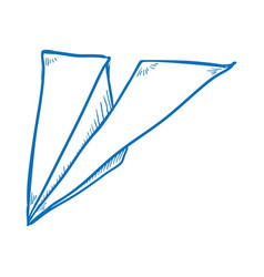 Paper airplane draw vector
