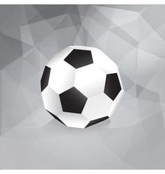 Paper soccer ball - trendy design template vector