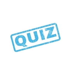 Quiz rubber stamp vector