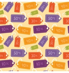 seamless pattern with price tags vector image vector image