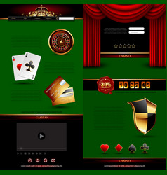 set of casino design elements vector image vector image