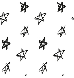 Stars painted imitation of ink on a white vector image vector image