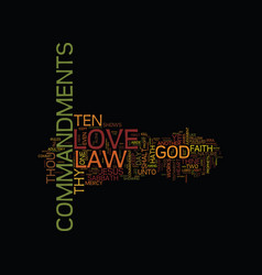 The law of love text background word cloud concept vector