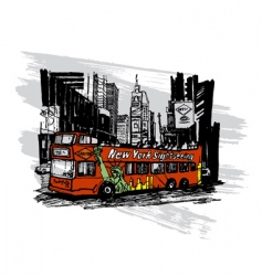 tourist bus vector image vector image