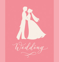 wedding design concept with bride and groom vector image