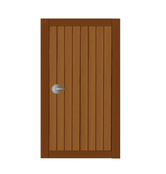 Wooden gates in soft brown cartoon vector