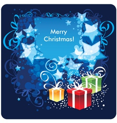 Merry christmas greetings card vector