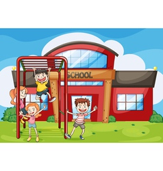 kids and monkey bar vector image