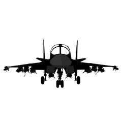 Military aircraft vector image