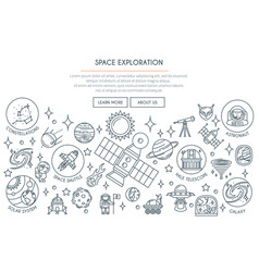 Space exploration banner 2 vector