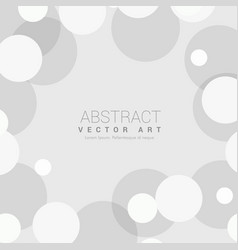 Simple gray background with circles vector