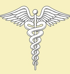 Medical caduceus vector