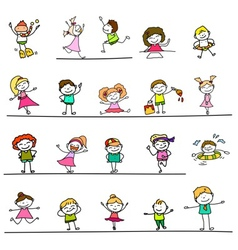 Happy kids 03 vector