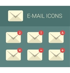 Mail design elements for website vector