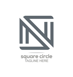 Logo square infinity lettering connecting abstract vector