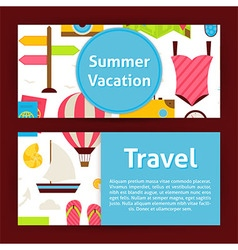 Summer vacation concept and travel strategy modern vector