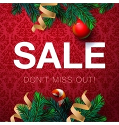 Christmas sale poster vector