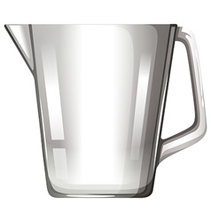 Glass beaker with handle vector