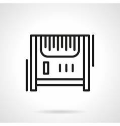 Radiator heater black line icon vector