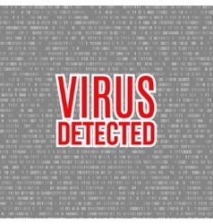 Virus detected background with digital vector
