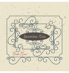 Vintage Victorian Greeting Card Template vector image